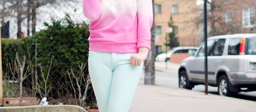 Mossimo Ombre Sweatshirt Skinny Jeans
