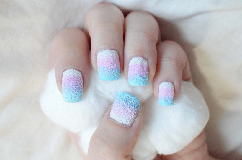 Cotton Candy Nails - #IHeartMyNailArt - Tineey