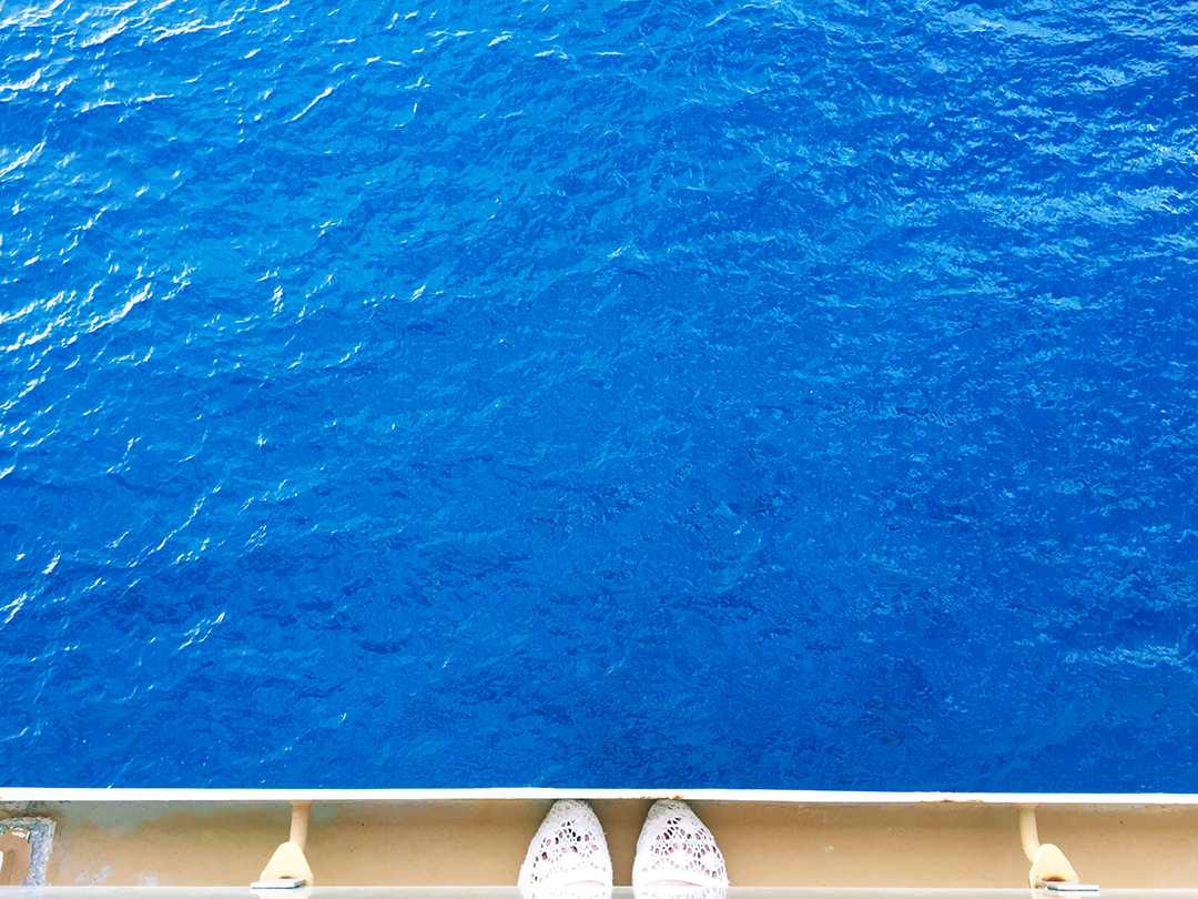 View from the balcony in our stateroom