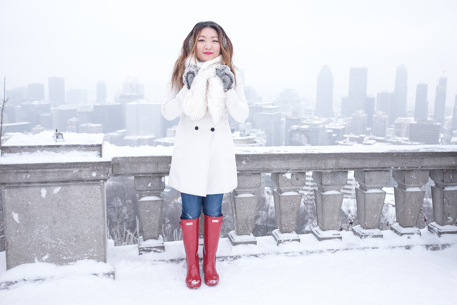 mont royal overlook, hunter boots