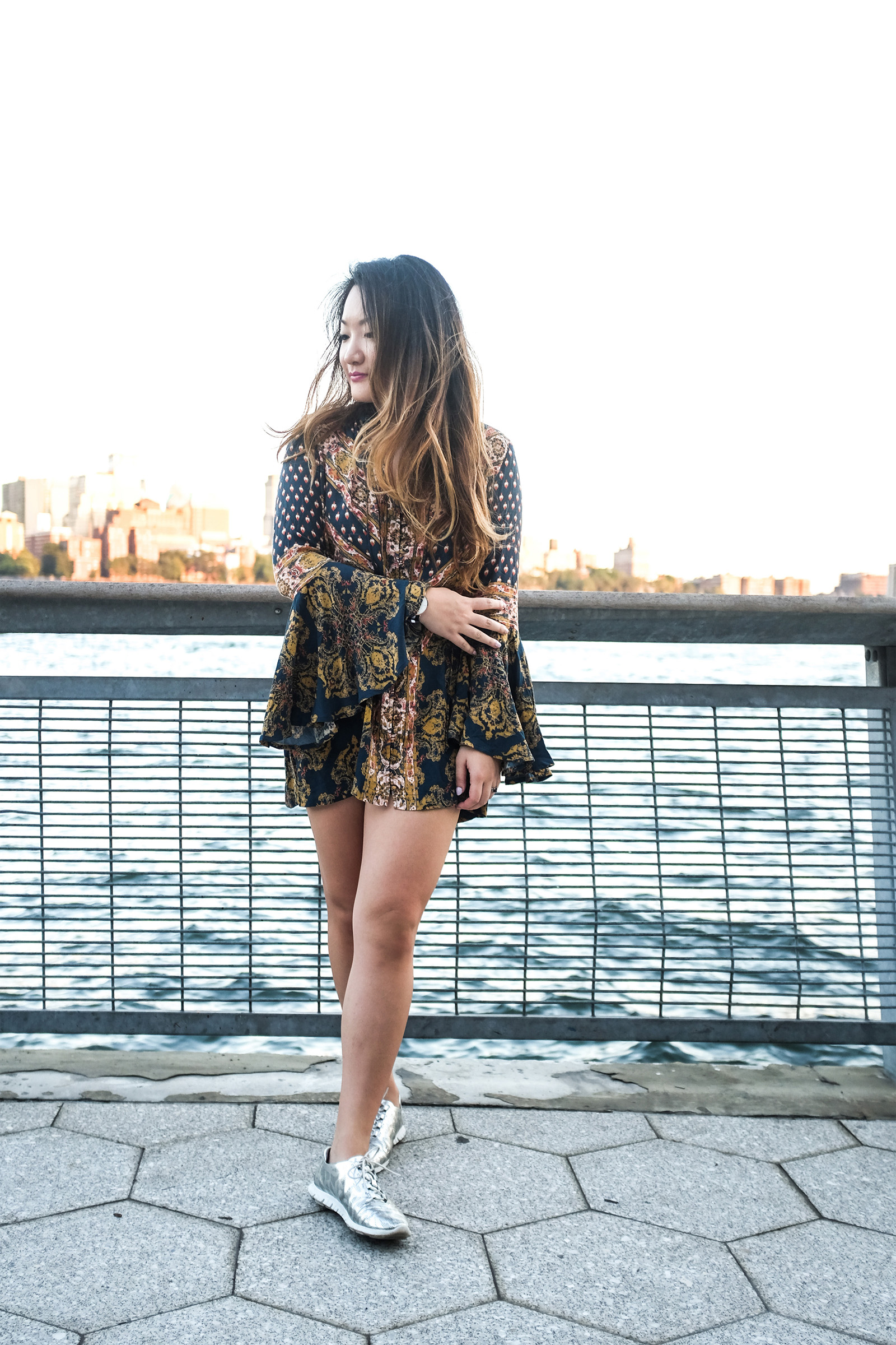 Free People print tunic / mini dress