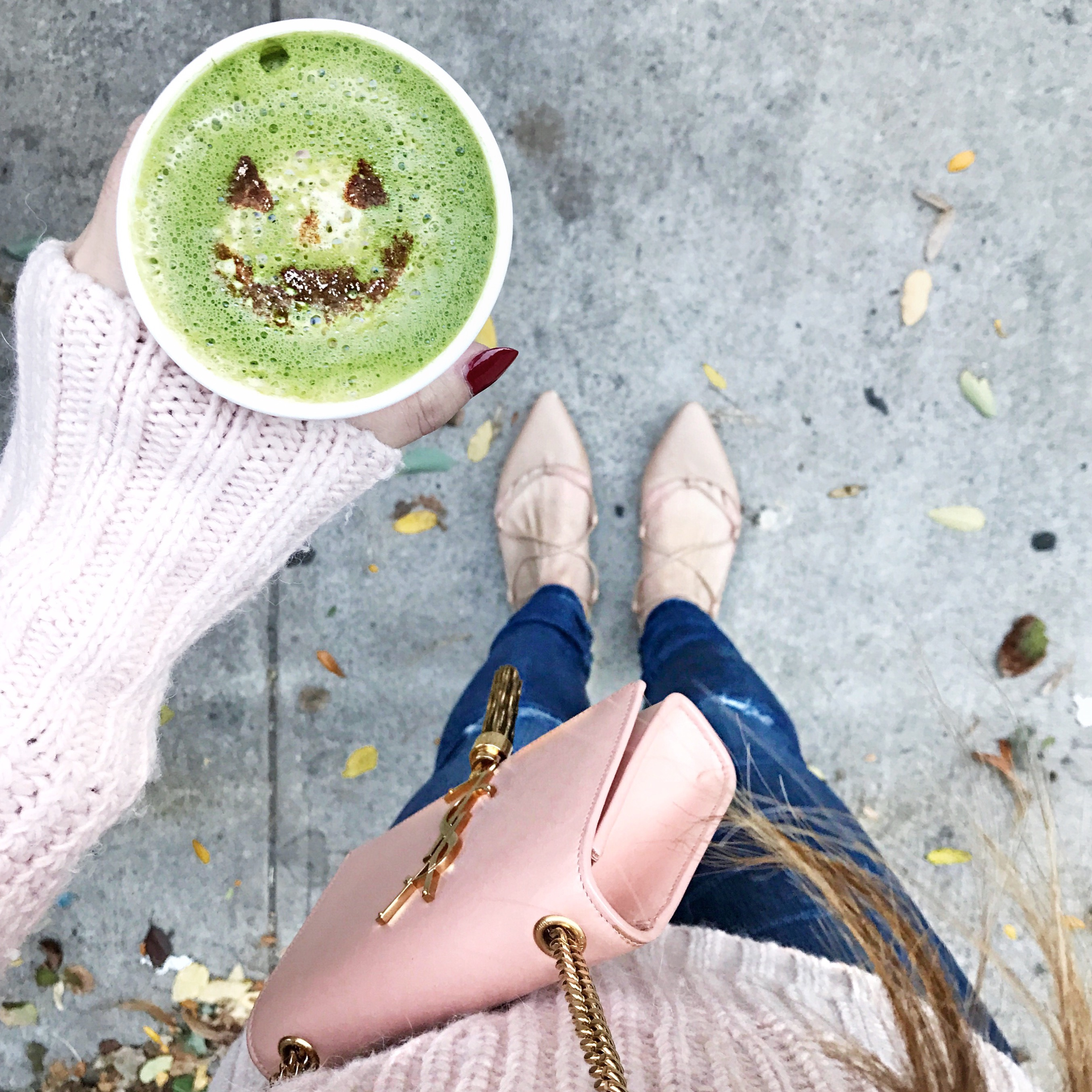 Pumpkin Spice Matcha Latte at Cafe Wabi