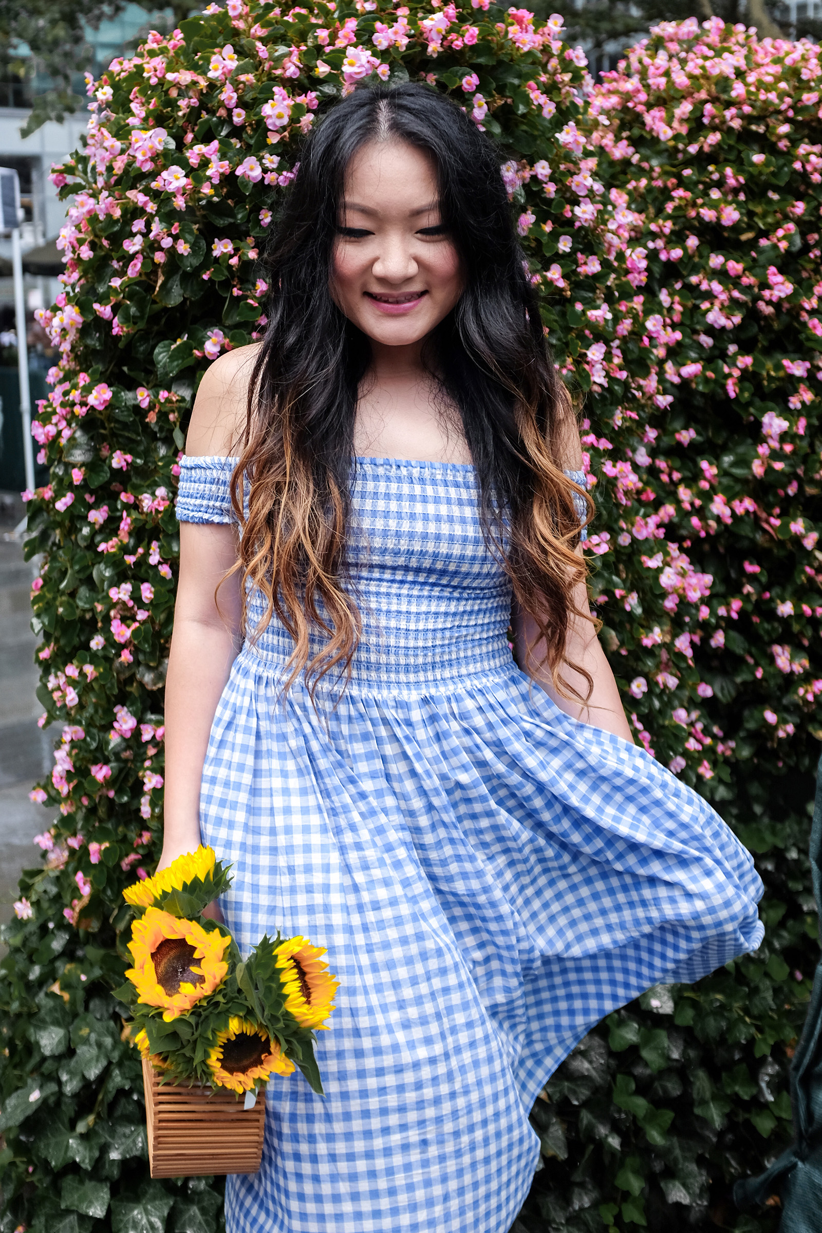 Cult Gaia Ark Bag - Blue Gingham Dress