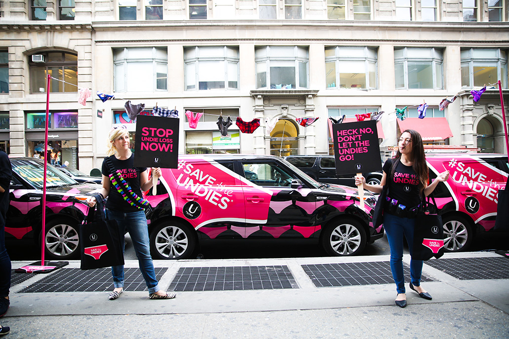 U By Kotex Save The Undies Event SoHo #SavetheUndies
