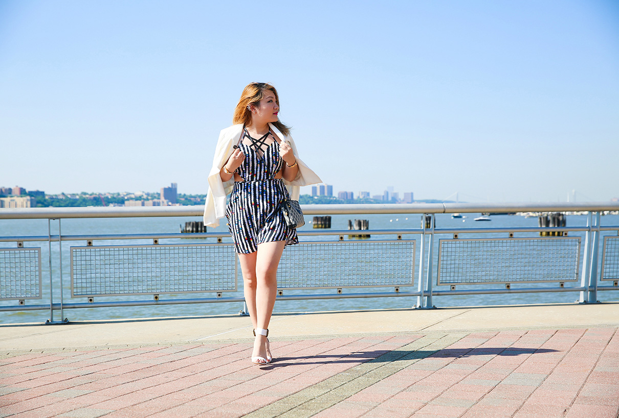 Blue White Outfit Nautical