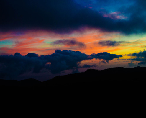 Epic Sunset from Top of Koke'e Park, Hawaii