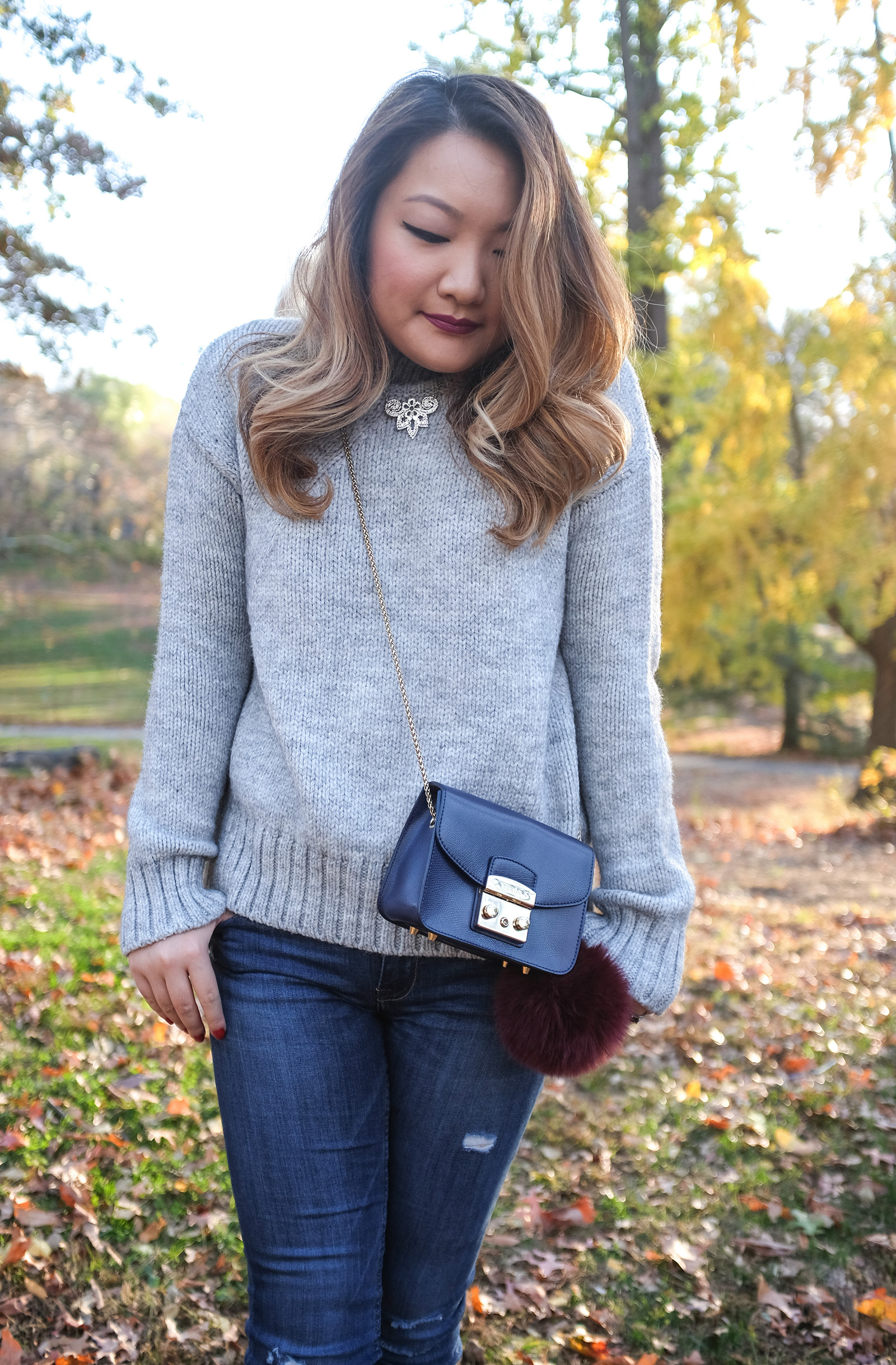 fall outfit oversized sweater