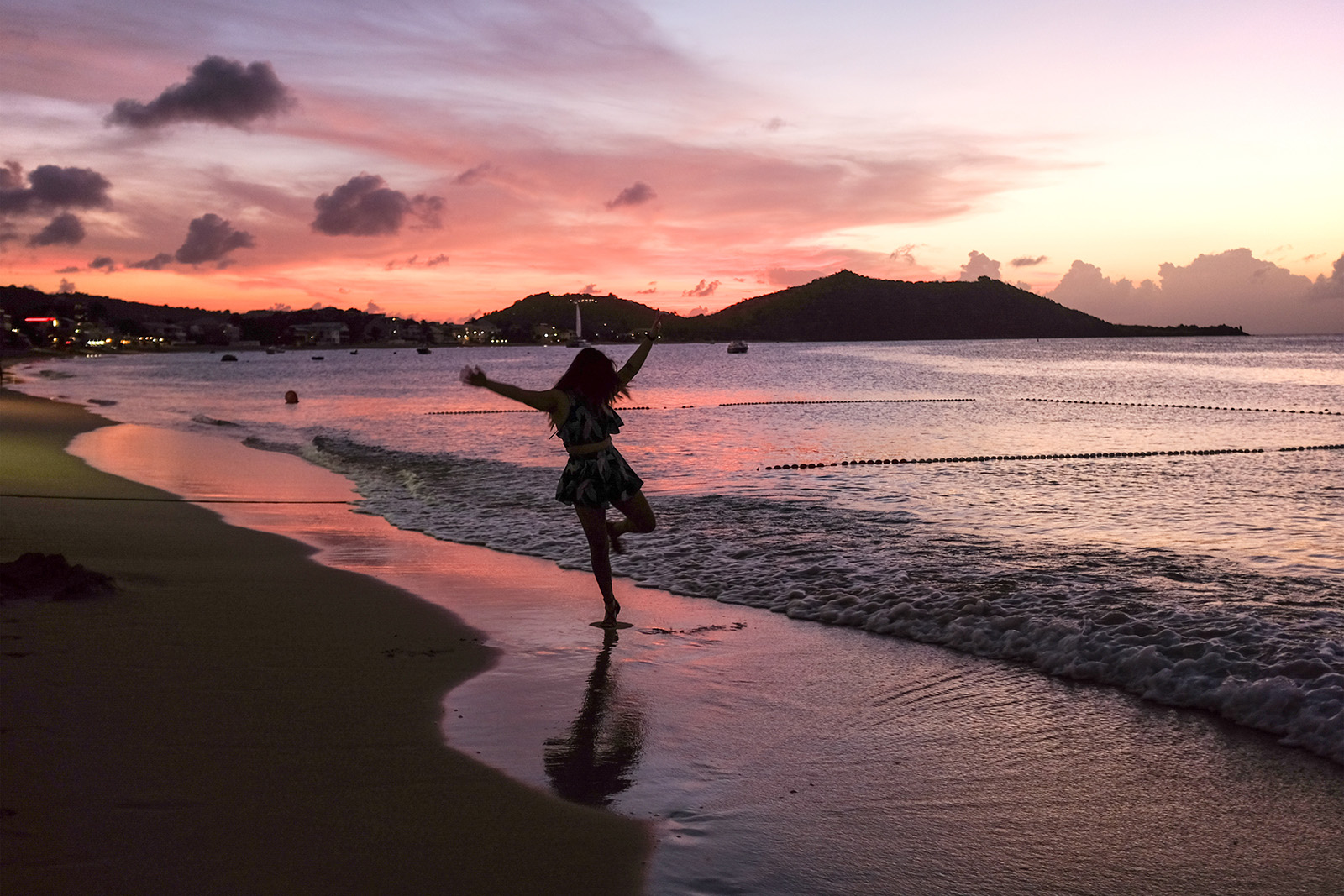 Sunset at Grand Case, St. Martin