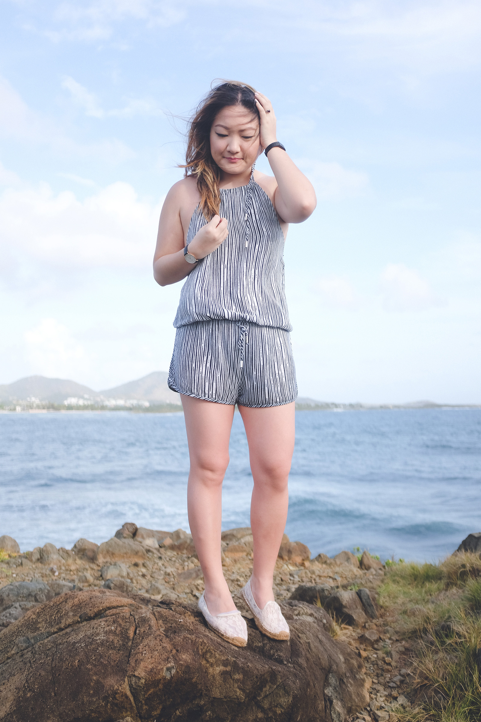 Striped LuLu's playsuit, St. Martin