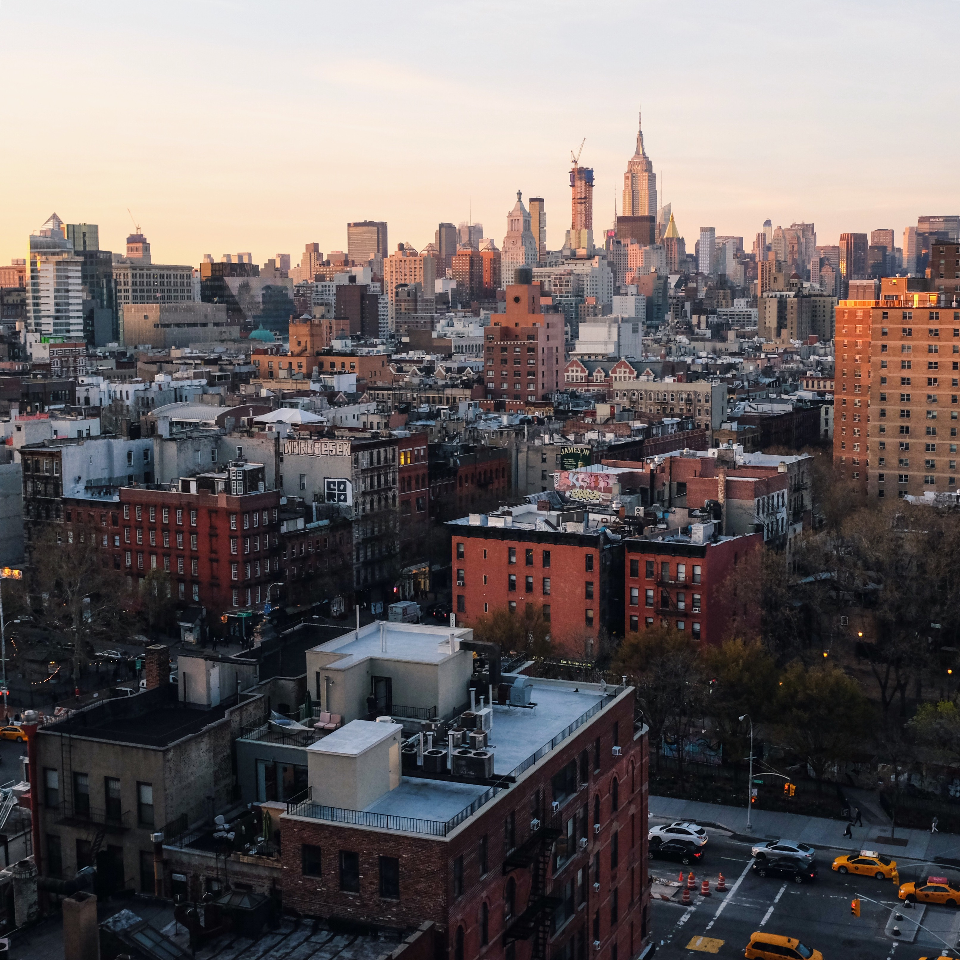 Sunset over Lower East Side