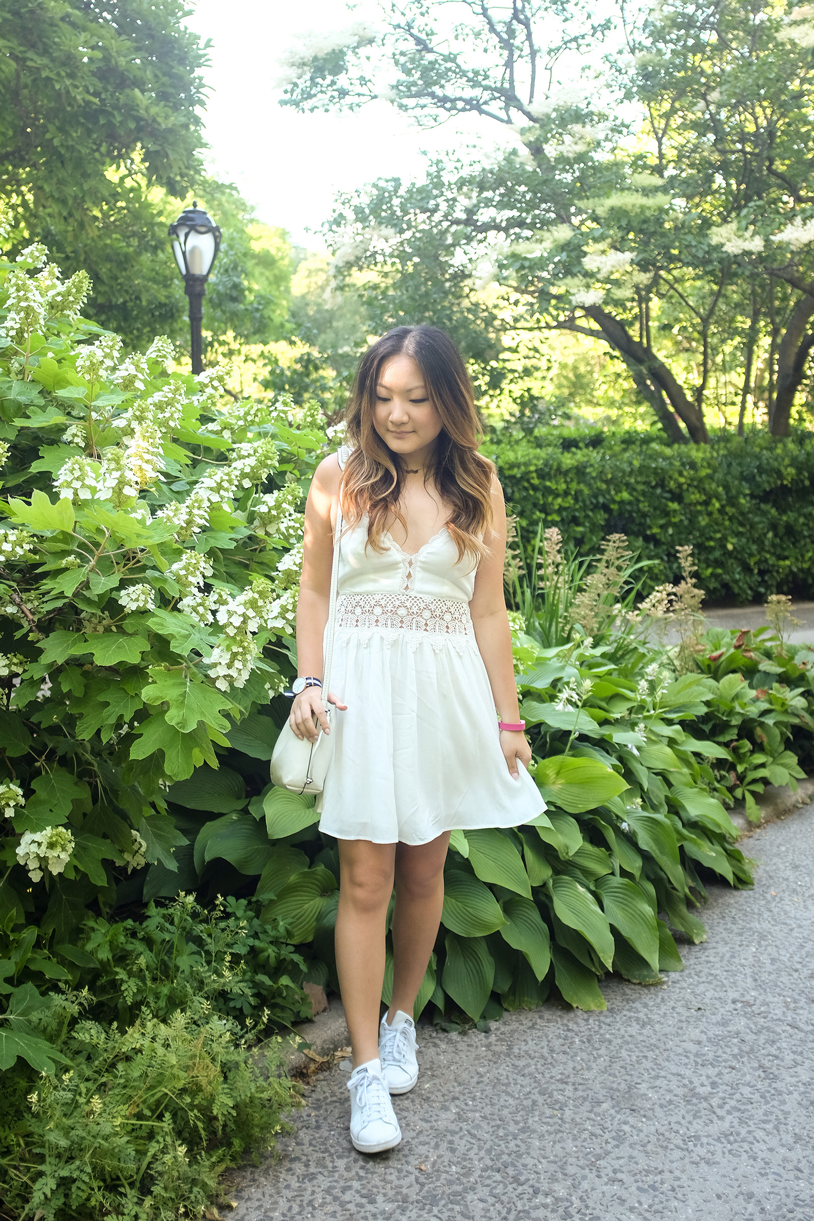 tobi white crochet dress