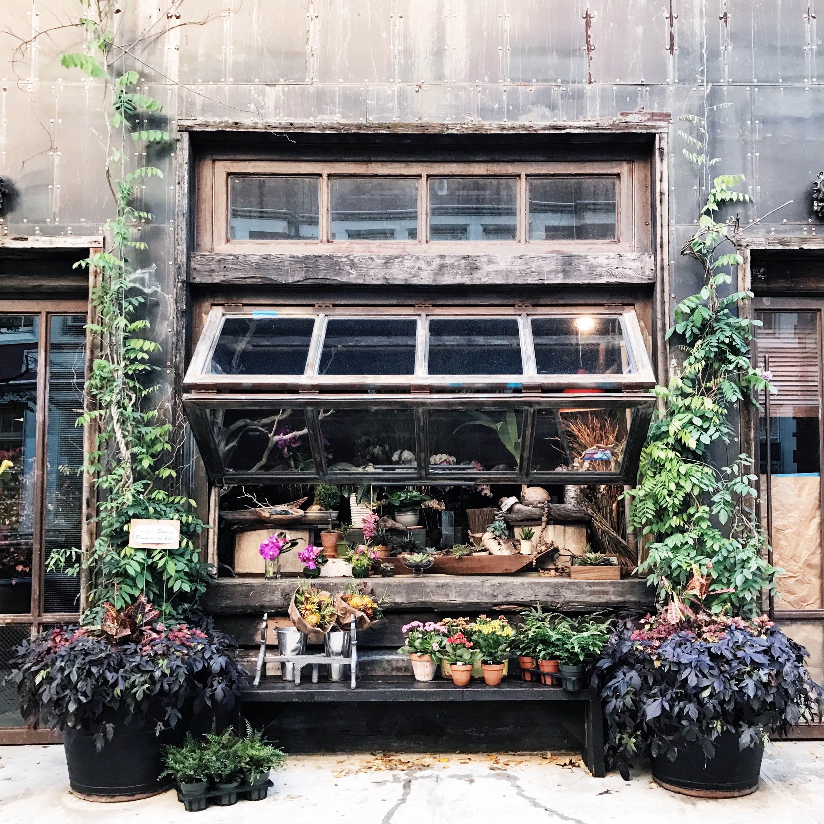 Floral shop tucked away in the East Village