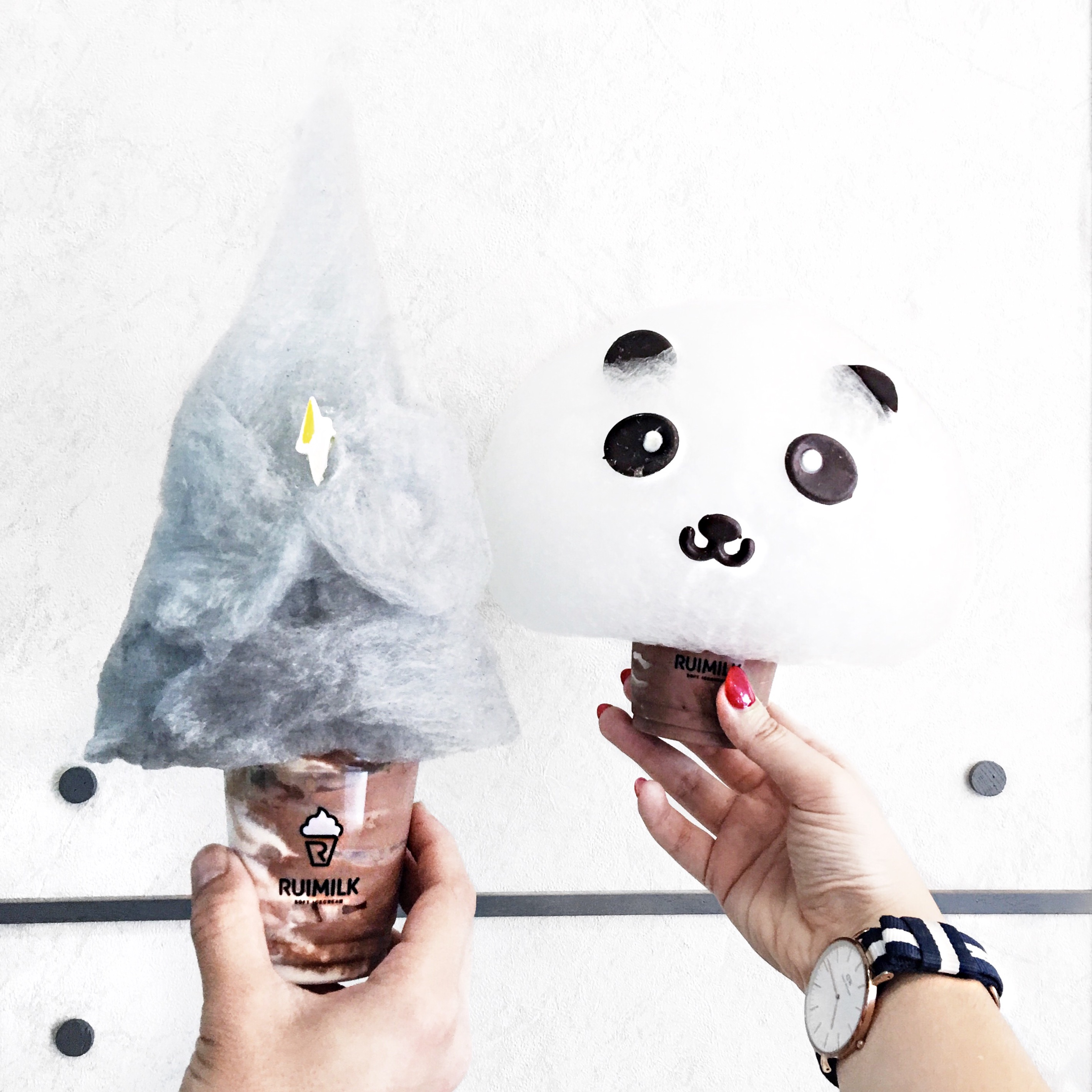 Cutest cotton candy ice creams from Ruimilk