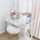 Mirrored Vanity Table - box of roses, makeup dressing table styled by Tineey