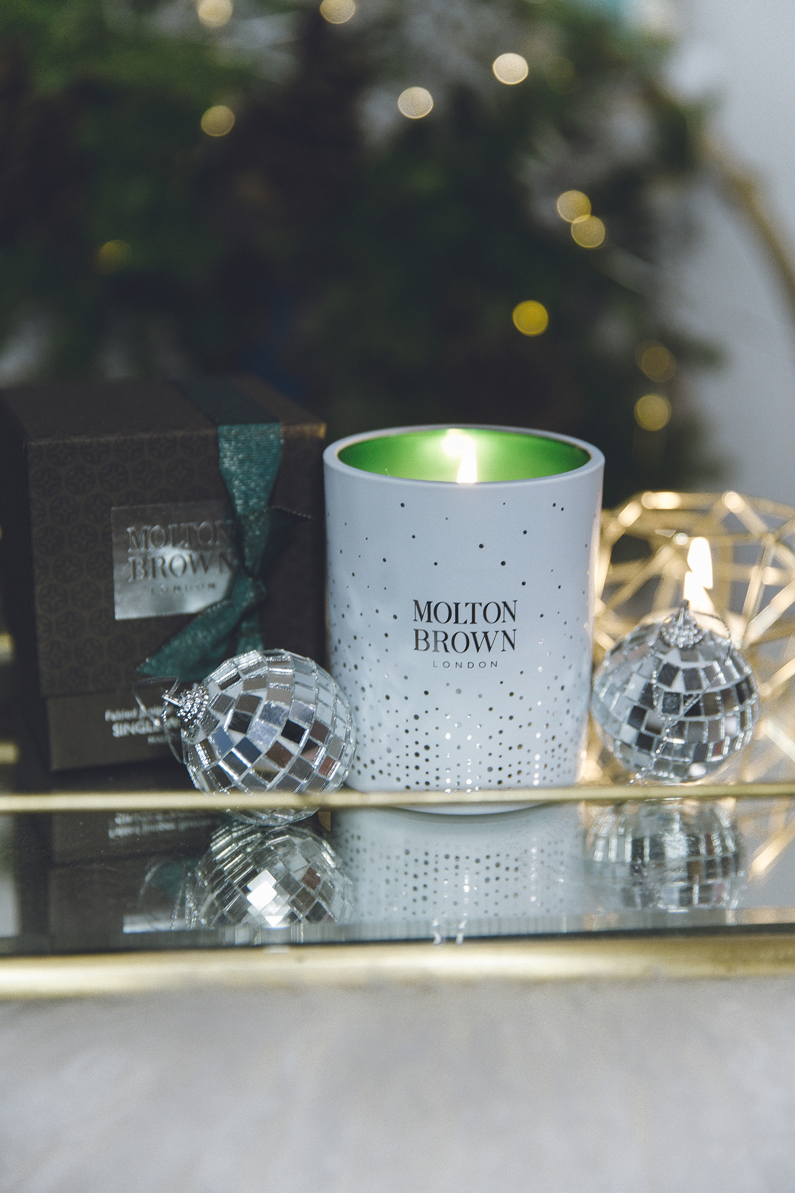 molten brown luxury holiday candles